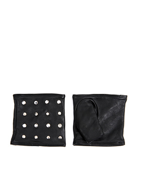 leather stud cuff