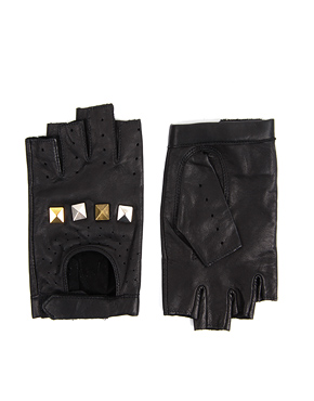 stud fingerless gloves