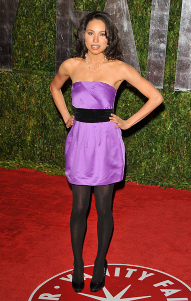 Black tights with purple dress